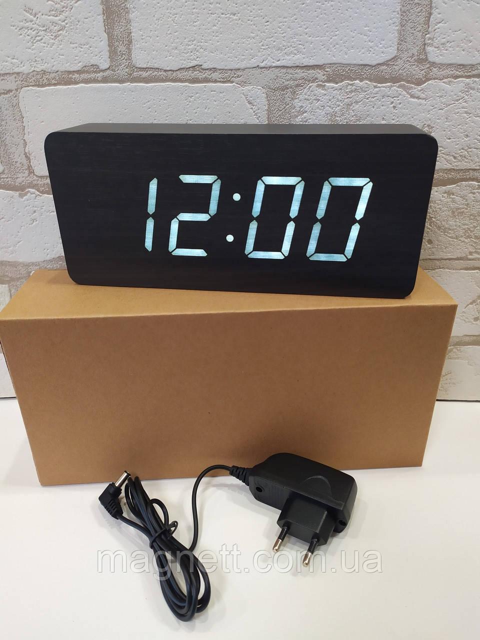Часы настольные дерево VST-865 (черный)