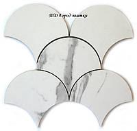 Мозаика СМ3115 Scales SC Spessio Carrara - керамическая мозаика под мрамор