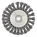 """Щетка для УШМ, 125 мм, М14, """"тарелка"""", крученая металлическая проволока Сибртех, фото 4"""