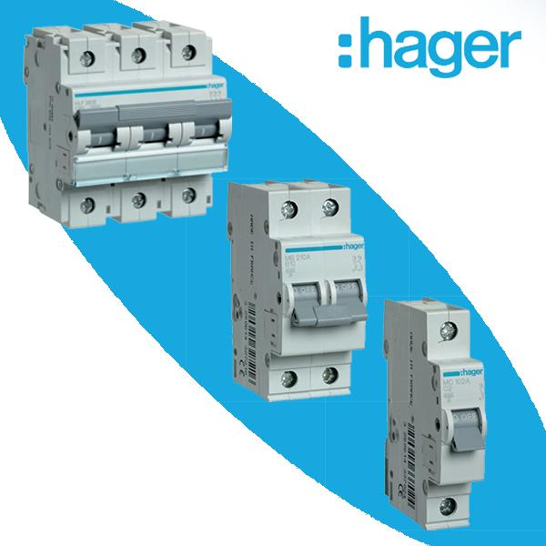Модульные автоматические выключатели Hager