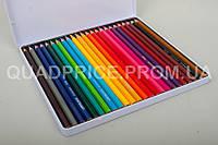 Цветные карандаши Acmeliae, 24 шт, 3 мм, шестигранные в метал. пенале, 9800-24