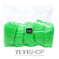 Бахилы Tufi Profi одноразовые, 3.5 г - зеленый, 100 шт