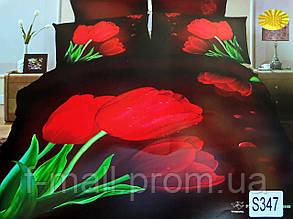 Комплект постельного белья ELWAY (Польша) 3D LUX Сатин Евро Подарочная упаковка (347)