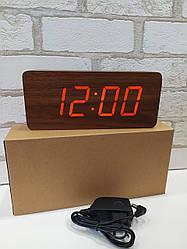 Часы настольные дерево VST-865 (коричневый)