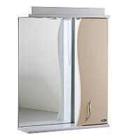 Дзеркало Аквасан з підсвічуванням 70 см Бежевий, фото 1