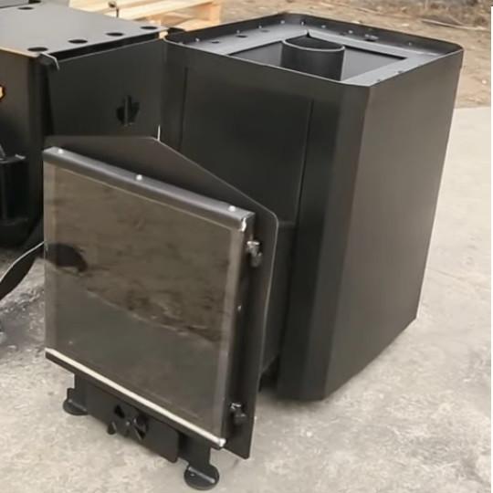 Печь для сауны Классик 20м³ без выноса со стеклом 305*305
