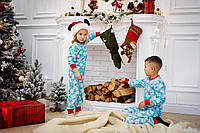 Піжама з ведмедиками для хлопчиків новорічна