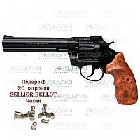 Револьвер флобера Stalker wood 6 дюймов 4 мм коричневая рукоять