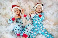 Піжама новорічні ведмедики для дівчаток