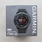 Смарт-годинник Garmin Fenix 6X - Pro Solar Edition - Titanium Carbon Gray DLC with Black Band чорний, фото 4