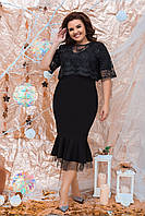 Нарядное женское платье со сьемным болеро Размер 50 52 54 56 58 60  В наличии 3 цвета, фото 1