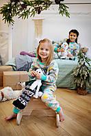 Піжама флісова зірки для дівчаток