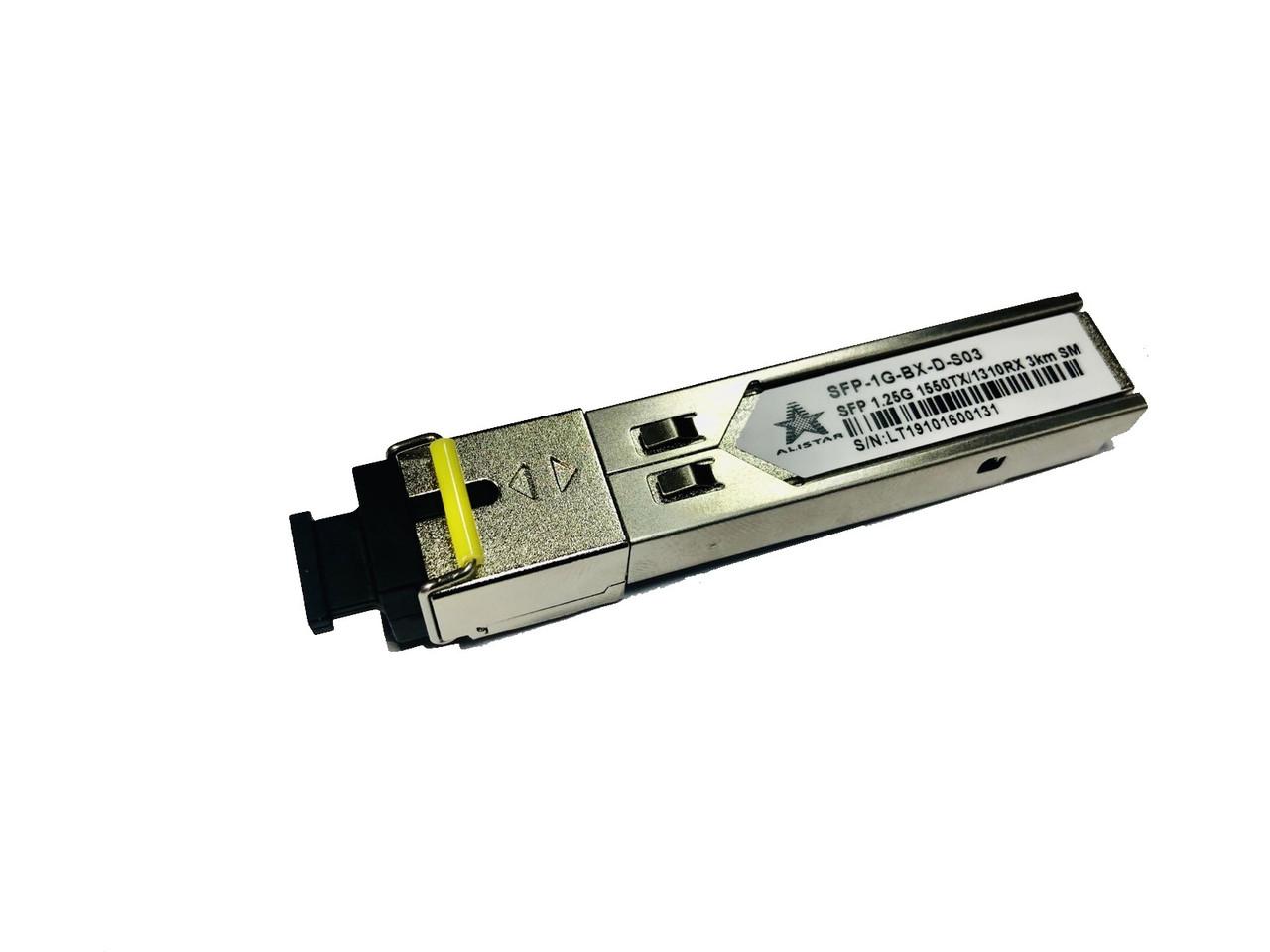 SFP 1000Base-BX 1SM WDM SC 3km TX1550/RX1310nm ddm  Alistar