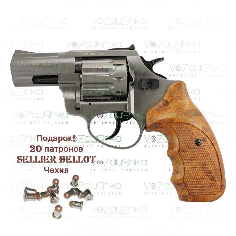 Револьвер Флобера Stalker 2,5 Titanium wood 4,0 мм