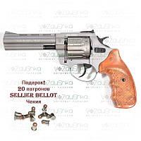 Револьвер под патрон Флобера Stalker 4,5 Titanium wood (gt45w), фото 1