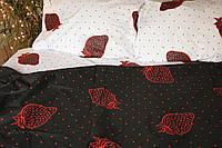 Качественное постельное бельё из бязи Клубничка (1,5 сп)