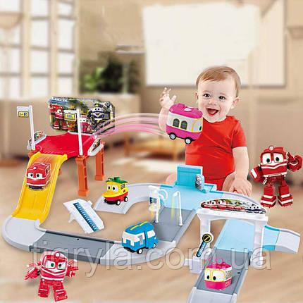 Трек  Роботы Поезда Альф робот трансфомер, фото 2
