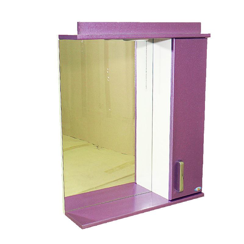 """Зеркало для ванной комнаты с подсветкой и шкафчиком """"Колибри"""" 55sn"""