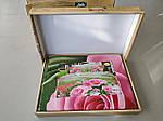 Комплект постельного белья ELWAY (Польша) 3D LUX Сатин Евро Подарочная упаковка (231), фото 2
