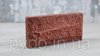 """Плитка цокольная рваная скала Красная """"Slim Stone""""."""