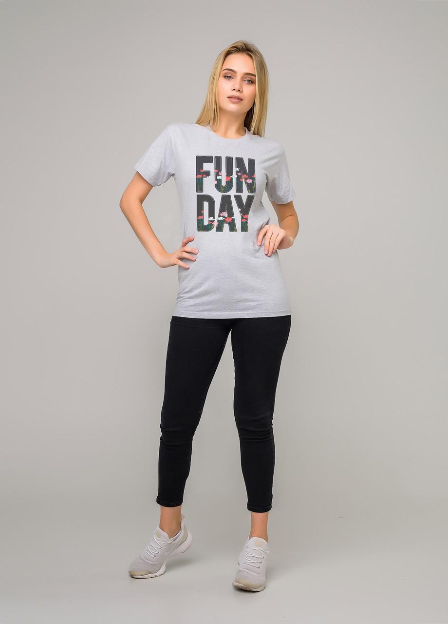 Сіра Футболка LOYS FUN DAY S