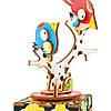 Деревянный 3D пазл Robotime Музыкальная шкатулка Птичка, фото 2