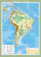 Південна Америка. Фізична карта (на планках ), фото 1