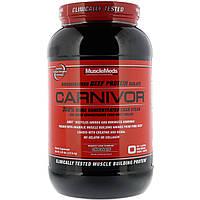 MuscleMeds, Carnivor, изолят белка говядины биоинженерной обработки, с шоколадом, 2.3 фунта (1036 г)