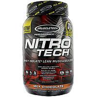 Сывороточный протеин, молочный шоколад, Muscletech, 907 гр.
