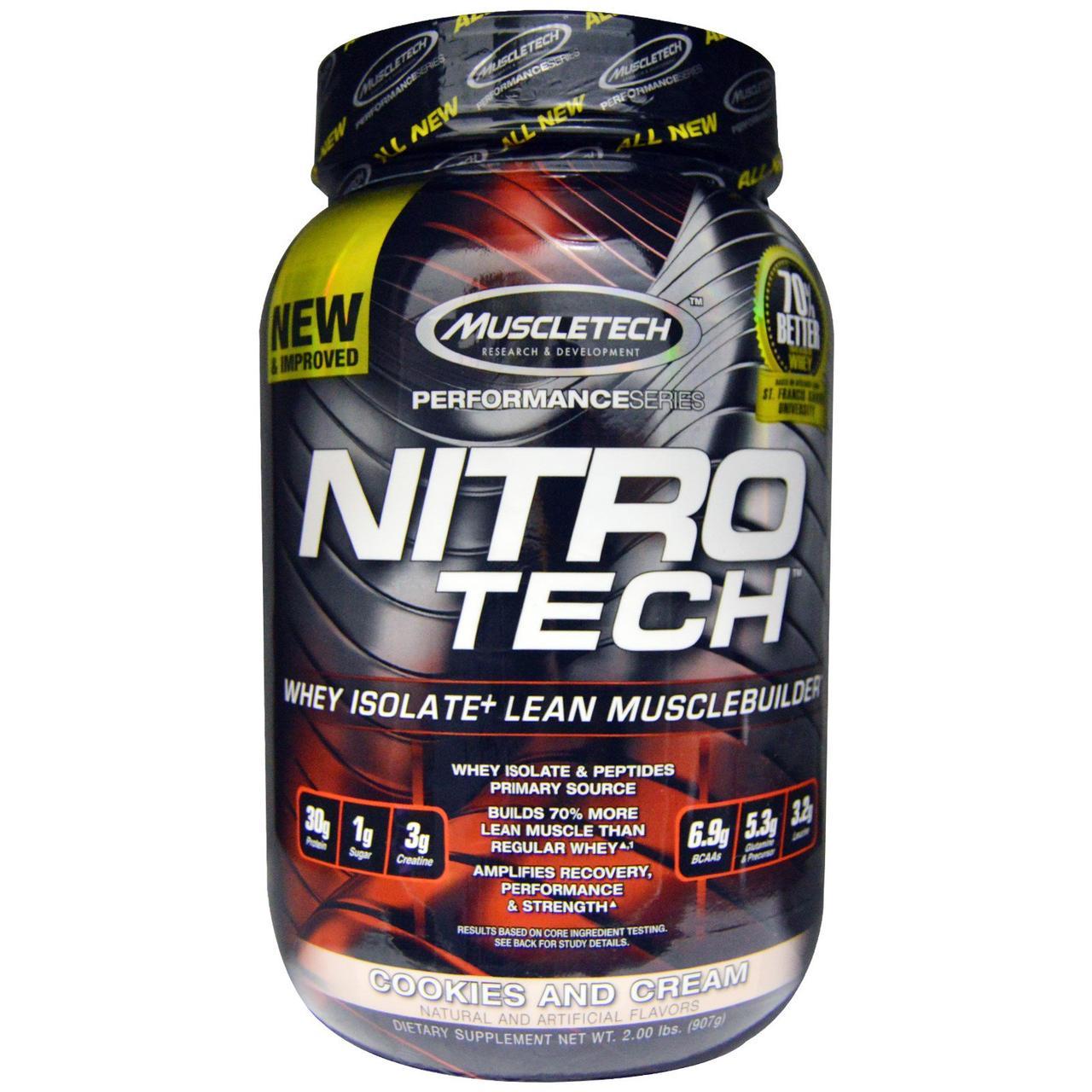 Сывороточный протеин, печенье и сливки, Nitro-Tech, Muscletech, 907 гр.