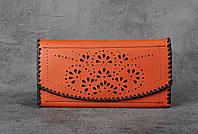 Кожаный женский кошелек, качественный кошелек ручной работы, фото 1
