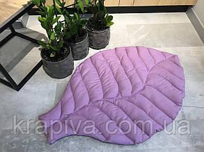 Коврик листик ХЛОПОК интерьерный, покрывало-одеяло, игровой коврик, декоративный для ванной и спальни