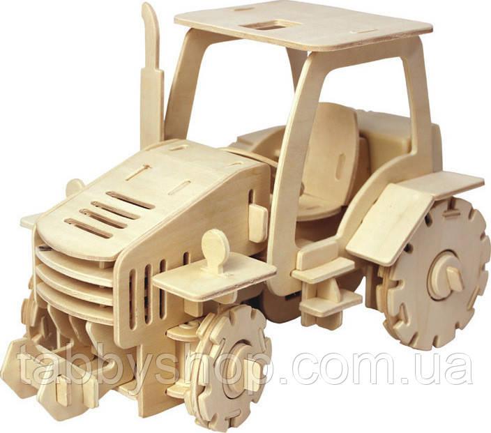 Дерев'яний 3D пазл Robotime Трактор на пульті ДУ