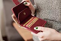 Маленький карманный кожаный женский кошелек _модель Lana_ подарок маме, подарок жене