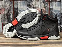 Мужские зимние ботинки на меху в стиле Columbia Snow Motion, натуральная кожа, черные *** 41 (27 см)