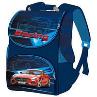 Школьный детский ранец для мальчика Гонки Smile рюкзак ортопедический