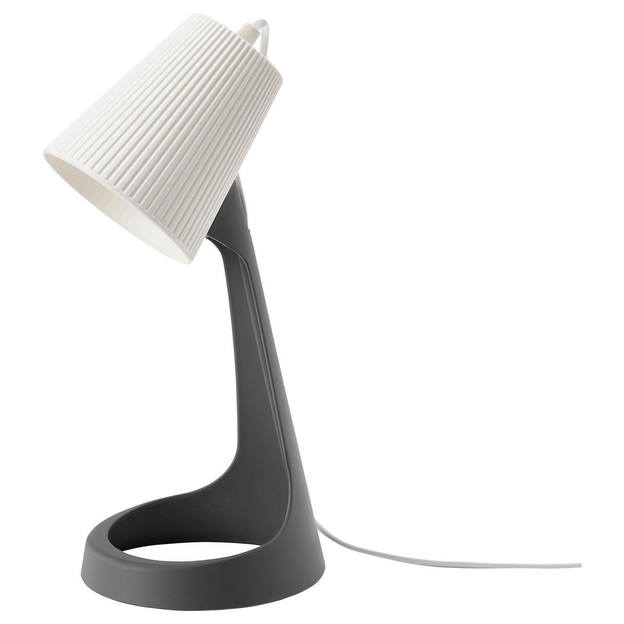 Лампа рабочая IKEA SVALLET темно-серый белый 703.584.87
