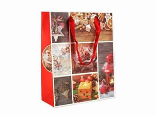 Подарочный пакет С Новым годом 23 см