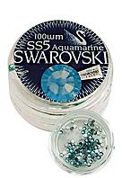 Стразы стекло ss5 Aguamarine, 100 шт,  Swarovski