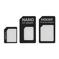 Набор адаптеров для SIM карт - Nano SIM -> Micro SIM -> SIM (3 шт.)