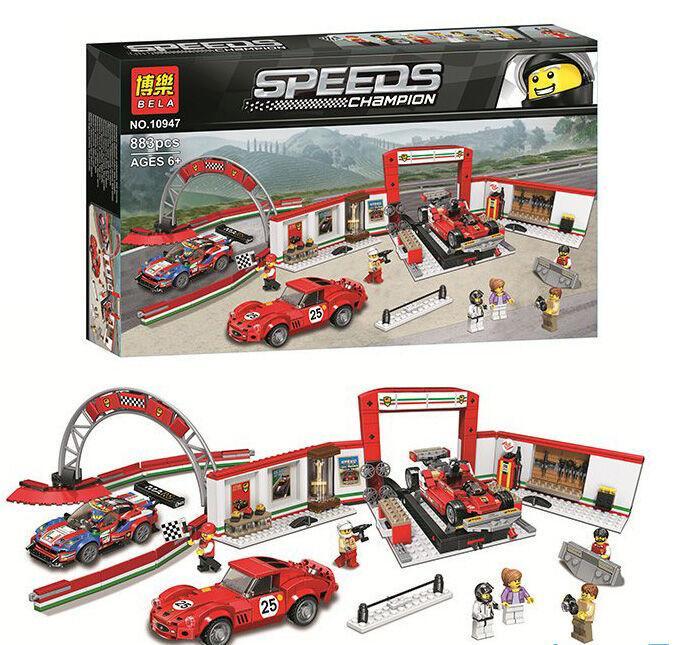 Конструктор Bela 10947 Гараж Ferrari 883 детали
