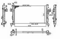Радиатор охлаждения двигателя OPEL COMBO Tour 1.3 CDTI 16V