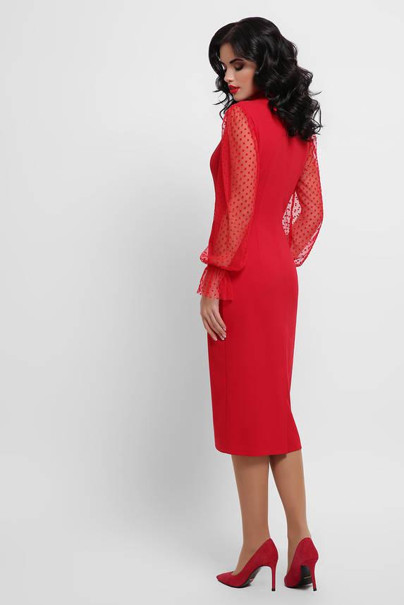 Нарядное праздничное платье красного цвета, фото 2