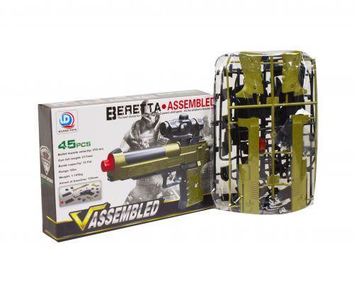 """Пистолет-конструктор """"Beretta"""", 45 деталей  sco"""