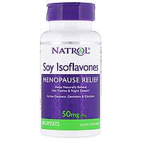 Соевые Изофлавоны, Soy Isoflavones, Natrol, 60 капсул