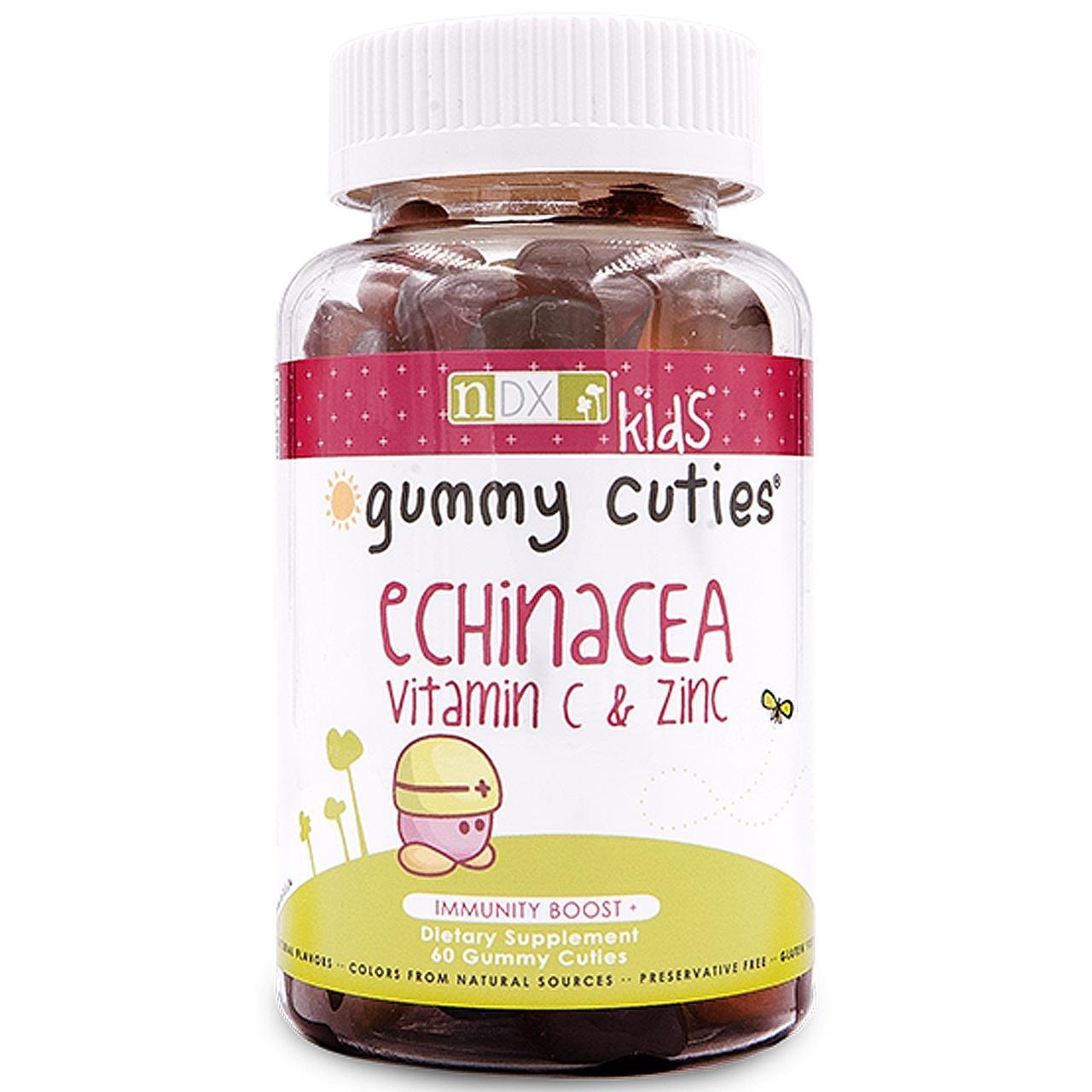 Ехінацея, вітамін C і цинк для дітей, Kids Echinacea, Vitamin C & Zinc, Natural Dynamix, 60 штук