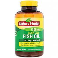 Рыбий жир, Омега 3, Fish Oil, Omega-3, Nature Made, 1000 мг, 150 капсул