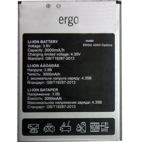 Аккумулятор для Ergo A503 Optima, 3000 mAh Оригинал