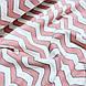 Фланелевая ткань зигзаг розовый на белом (шир. 2,4 м), фото 3