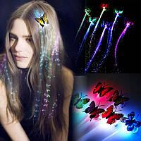 Светящиеся волосы, цветные пряди волос, заколки с подсветкой, новогодние украшения для девочек